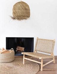 Loungefåtölj, trä och sisal