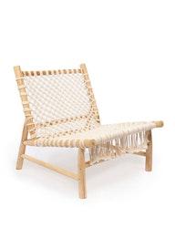 Loungefåtölj, trä och bomull