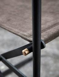 Regissörstol naturgarvat läder, grå