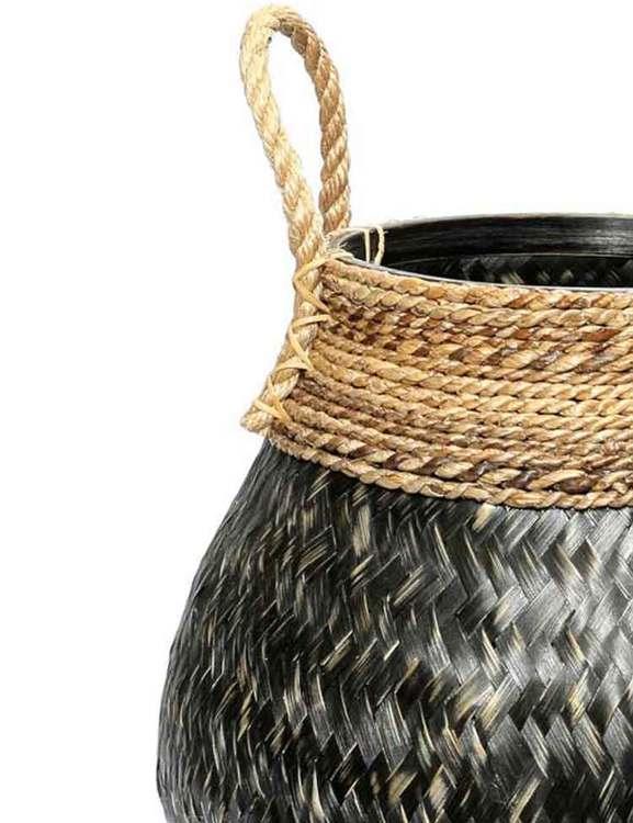 Belly basket, korg i sjögräs och bambu. Från Bazar Bizar.