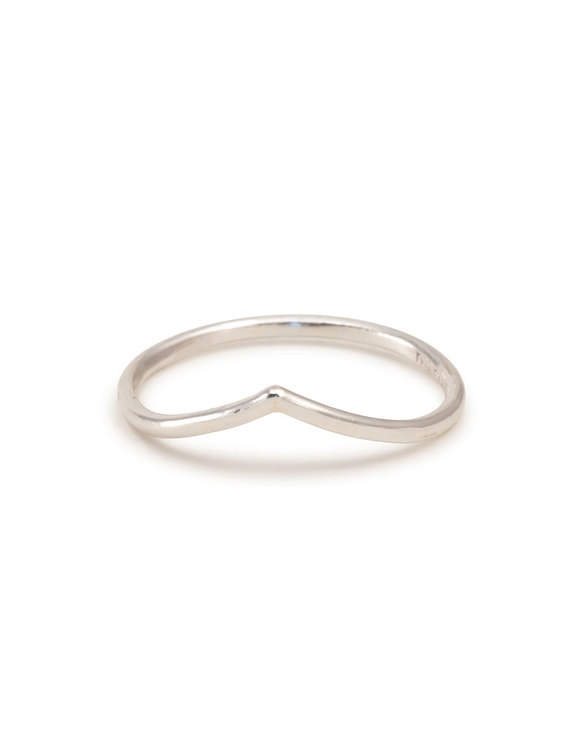 V-ring återvunnet silver