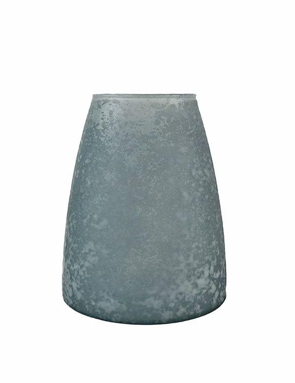 Palma vas, konisk form. Återvunnet glas, från Oohh.