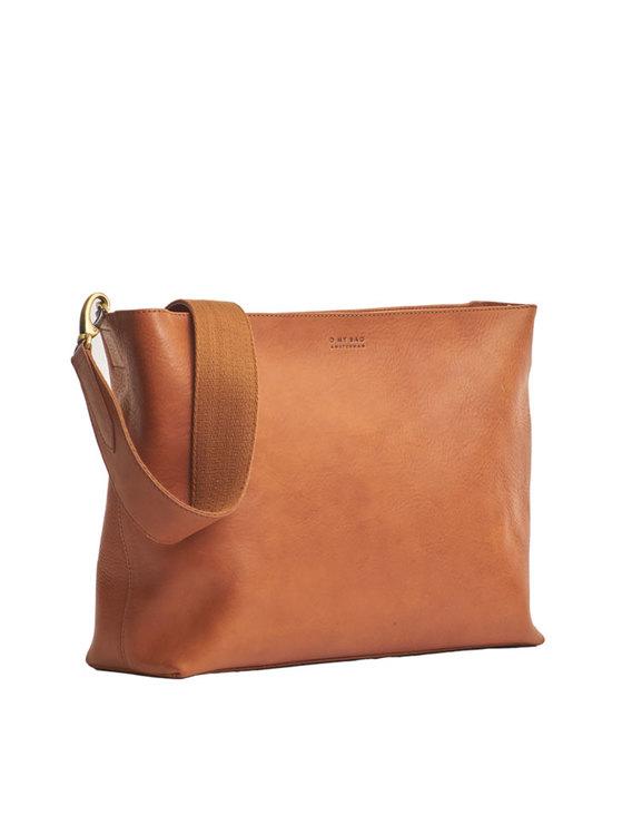 Naturgarvat läder, axelremsväska, O My Bag