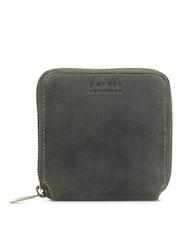 Kvadratisk plånbok, grön naturgarvat läder