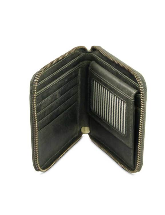 Fyrkantig plånbok, naturgarvat läder
