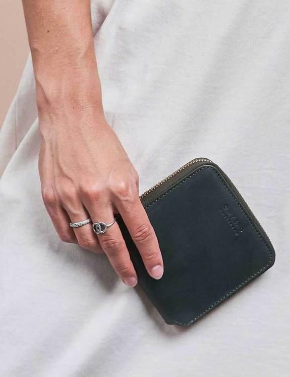 Smart och snygg grön plånbok i läder