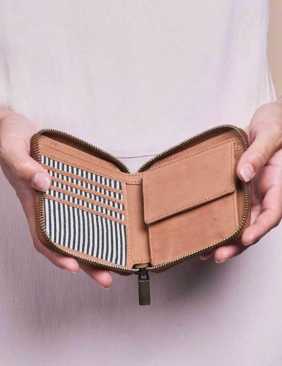 Praktisk fyrkantig plånbok
