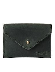Plånbok grön naturgarvat läder