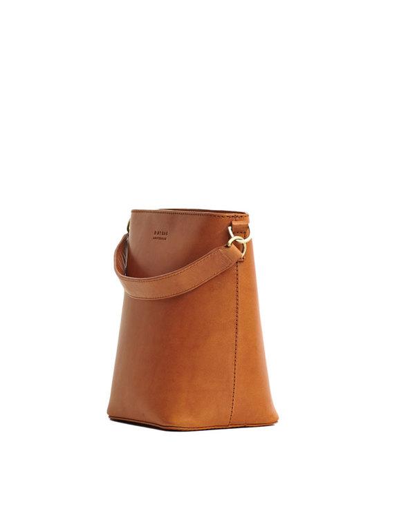 Elegant bucket bag, naturgarvat läder