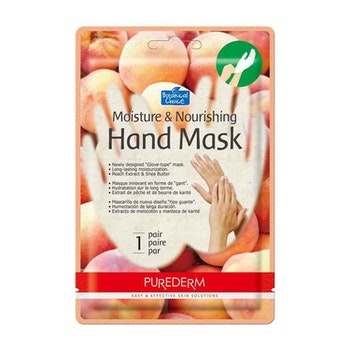 PUREDERM Moisture & Nourishing Hand Mask Peach