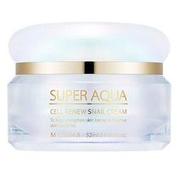 MISSHA Super Aqua Cell Renew Snail Cream - kort datum, 70 % rabatt!