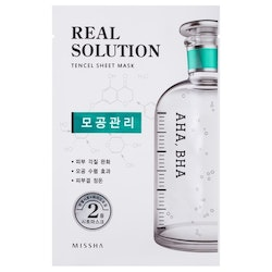 Ansiktsmask: Missha Real Solution Tencel Sheet Mask (Pore Control - AHA, BHA Syra)