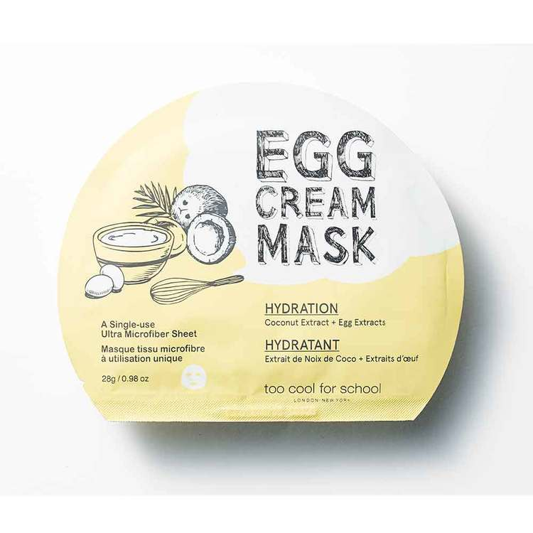 Ansiktsmask - Too Cool For Schol Egg Cream Hydration Facial Mask
