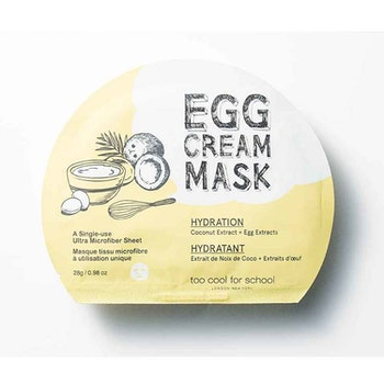 Too Cool For School Egg Cream Hydration Facial Mask