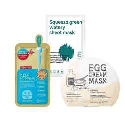 Sheetmask-set Linns favoriter