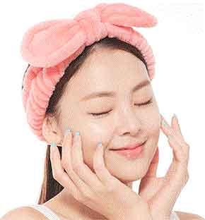 Hårband med rosett rosa