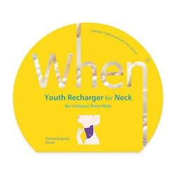 WHEN Youth Recharging for Neck Bio Cellulose Sheet Mask, kort datum - 50% rabatt!