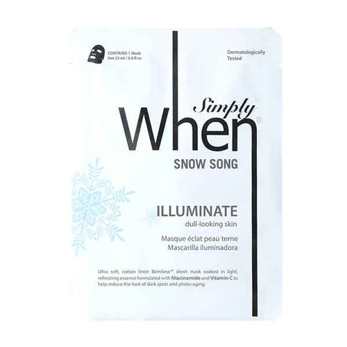 Simply WHEN Snow Song Brighten Sheet Mask