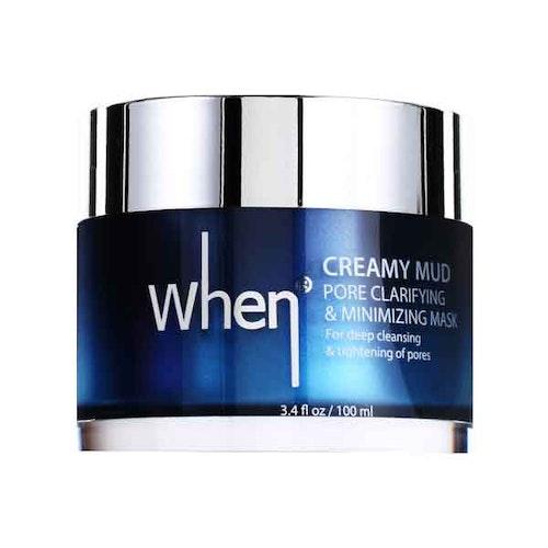 WHEN Creamy Mud Pore Clarifying & Minimizing Mask, kort datum, 50% rabatt!