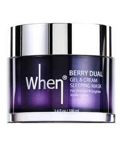 WHEN Berry Dual Gel & Cream Sleeping Mask
