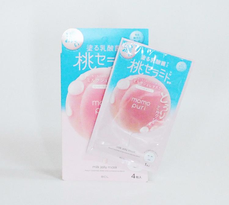 Momopuri Milk Jelly Sheet Mask 4-pack