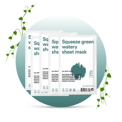 E NATURE Squeeze Green Watery Sheet Mask 10-pack