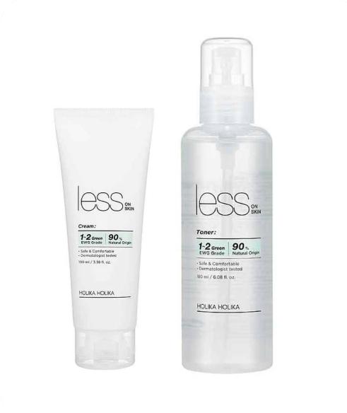 Holika Holika Less On Skin Set Toner+Cream