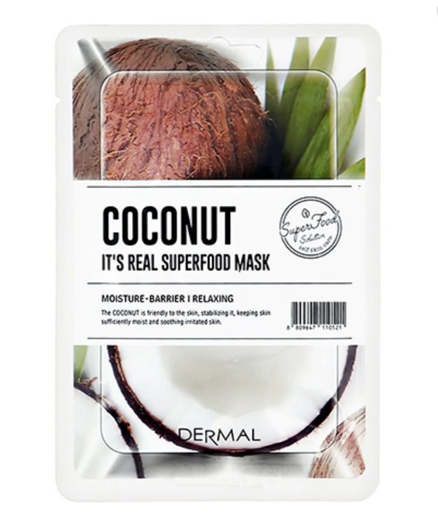 Dermal Its Real Superfood Sheet Mask Coconut