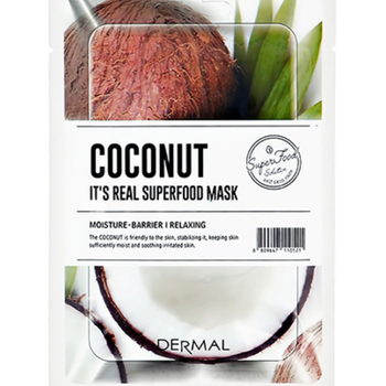 Dermal Its Real Superfood Sheet Mask Coconut