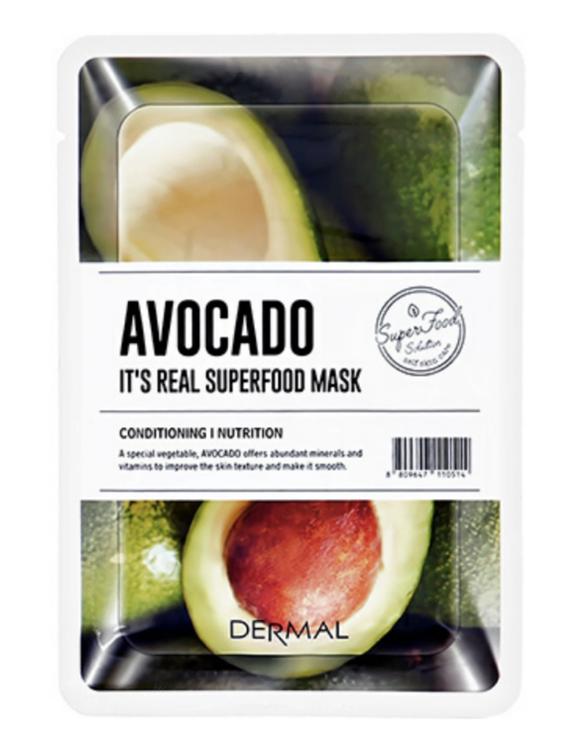 Dermal Its Real Superfood Sheet Mask Avocado