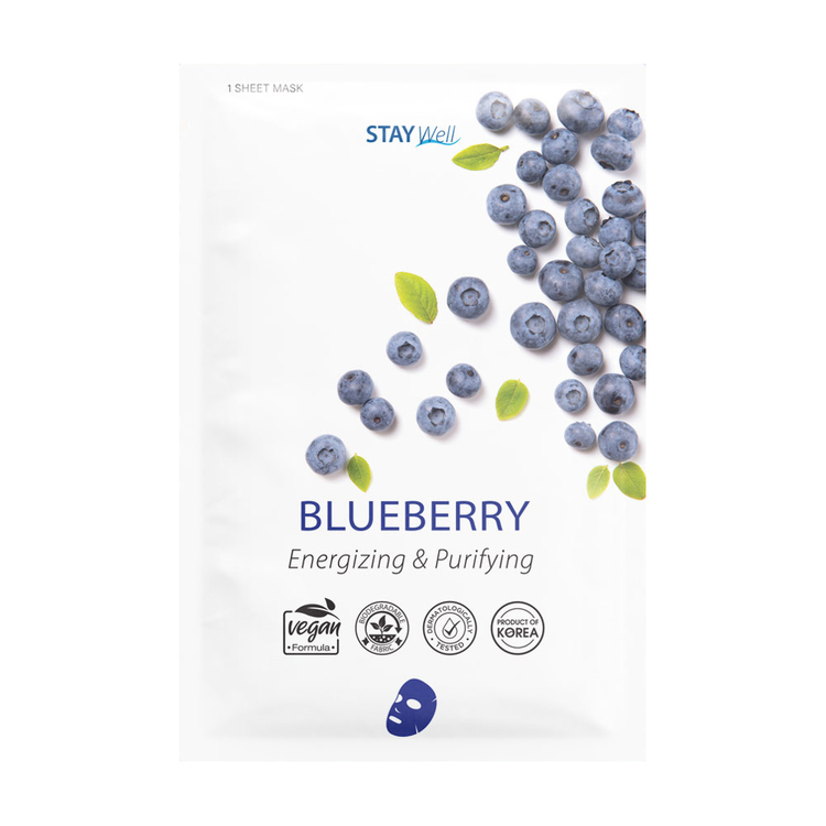 STAY Well Vegan Sheet Mask Blueberry