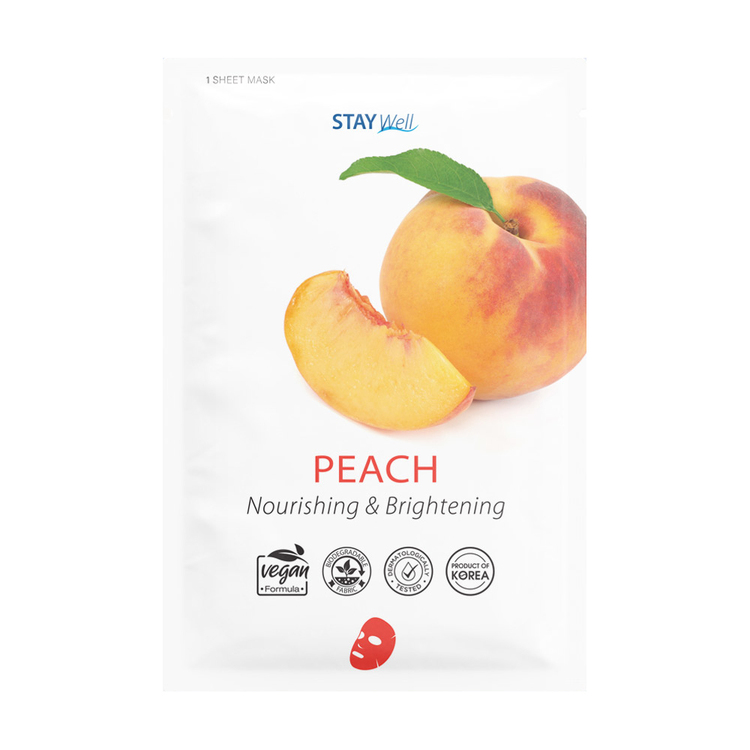 STAY Well Vegan Sheet Mask Peach