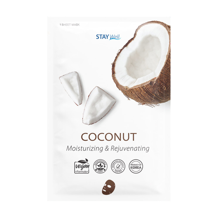 STAY Well Vegan Sheet Mask Coconut