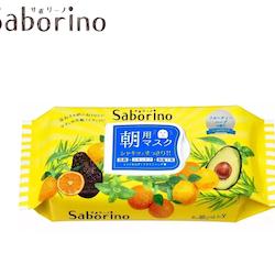 Saborino Morning Face Mask - Avocado/Citrus/Mynta, 28-pacck