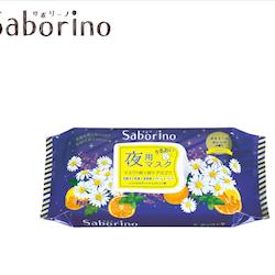 Saborino Good Night Face Mask - Kamomill och Apelsin, 28 st