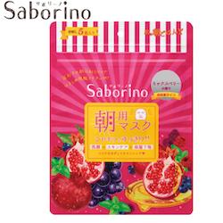 Saborino Morning Face Mask - Granatäpple, 5-pack