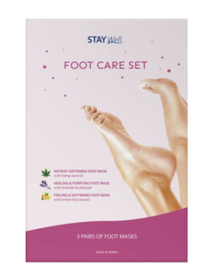 Stay Well Foot Care Set - 3 masker