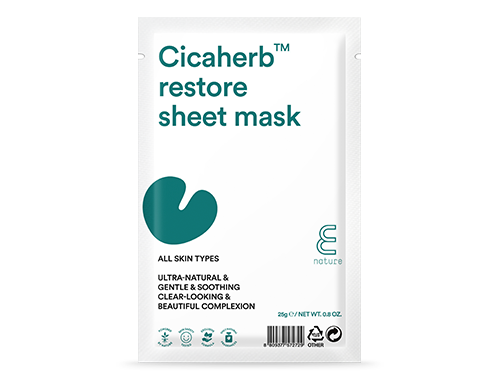 Ansiksmask - E NATURE Cicaherb Restore Sheet Mask  10 pack