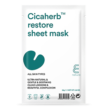 E NATURE Cicaherb Restore Sheet Mask  10-pack