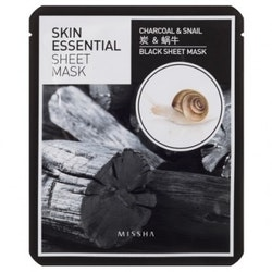 MISSHA Skin Essential Sheet Mask Charcoal & Snail