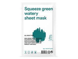 E NATURE Squeeze Green Watery Sheet Mask  -10 pack