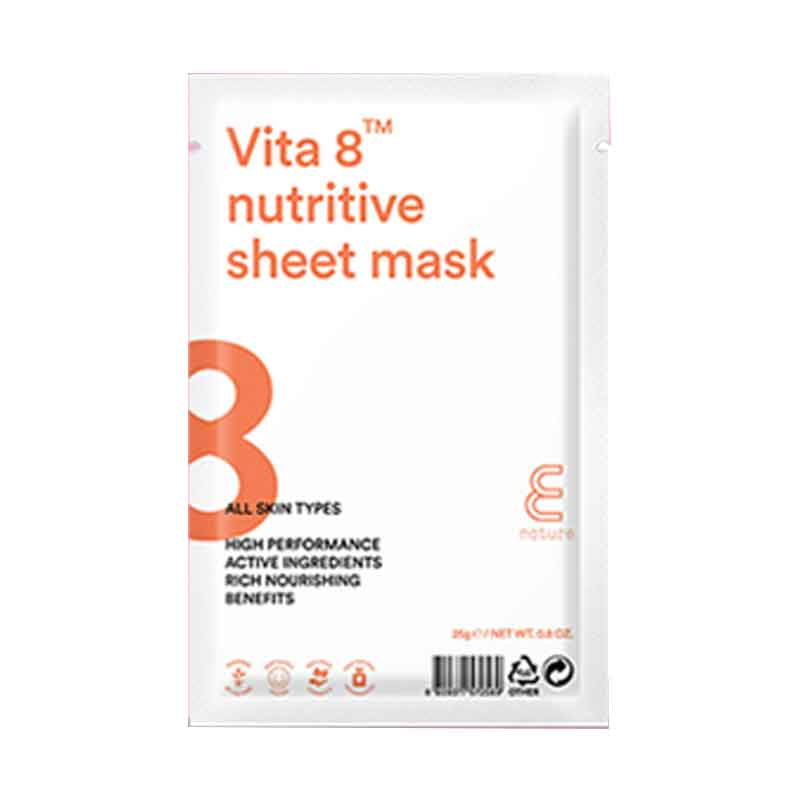 Ansiktsmask- E NATURE Squeeze Vita 8 nutritive Sheet Mask