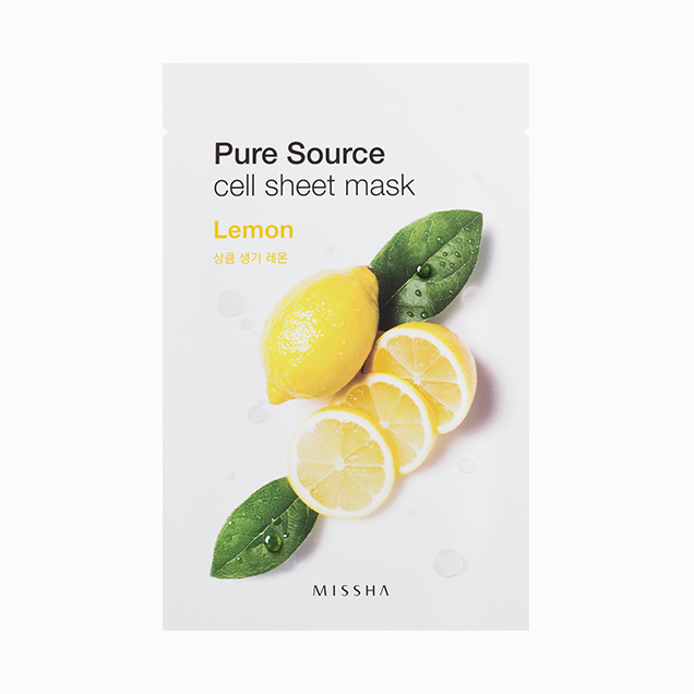 Ansiktsmask: MISSHA Pure Source Cell Sheet Lemon