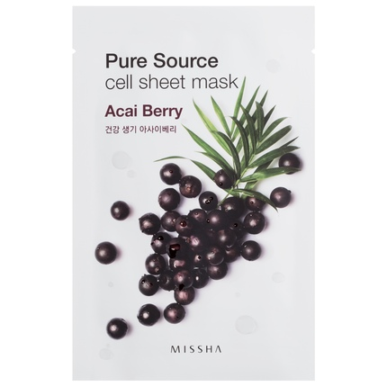 Ansiktsmask: MISSHA Pure Source Cell Sheet Mask Acai Berry