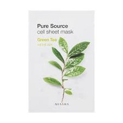 Ansiktsmask: MISSHA Pure Source Cell Sheet Mask Green Tea