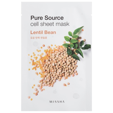 Ansiktsmask: MISSHA Pure Source Cell Sheet Mask Lentils