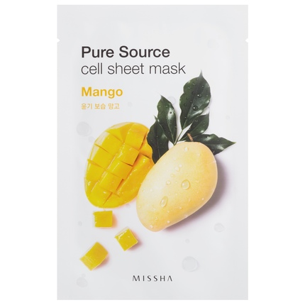 Ansiktsmask: MISSHA Pure Source Cell Sheet Mask Mango