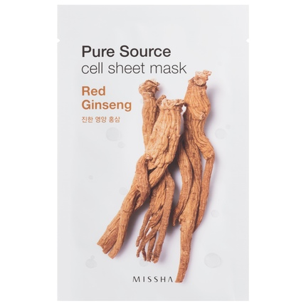 Ansiktsmask: MISSHA Pure Source Cell Sheet Mask Red Ginseng