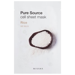 Ansiktsmask: MISSHA Pure Source Cell Sheet Mask Rice