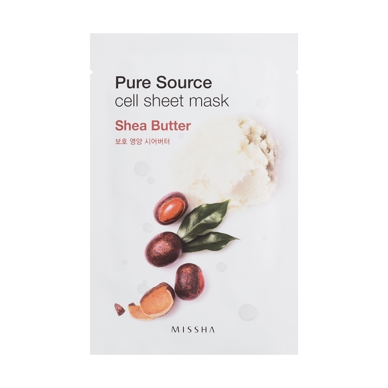 Ansiktsmask: MISSHA Pure Source Cell Sheet Mask Shea Butter
